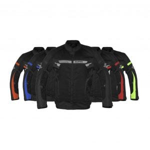 Alpha Cycle Gear Breathable Motorcycle Bikers Jacket (X-LARGE, BLACK WIND)