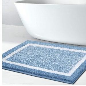Color&Geometry Bathroom Rug Mat, Machine Washable