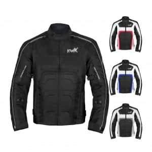 HHR Textile Men Motorcycle Jacket Breathable WATERPROOF Biker (Black, M)