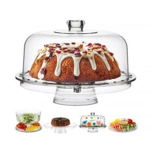 Homeries Cake Stand with Dome Cover
