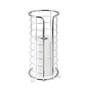 Mdesign Free Standing Metal Toilet Paper Holder Stand