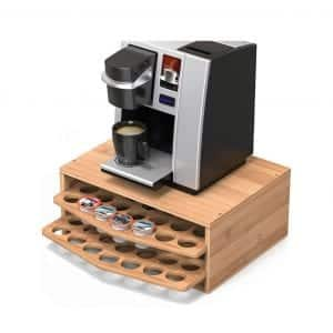 WELL WENG 2-tier Bamboo Coffee Pod Holder
