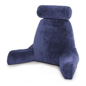 Husband Pillow Dark Blue Backrest Reading Pillow