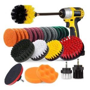 Jusoney 27 Piece Premium Drill Brush Attachment
