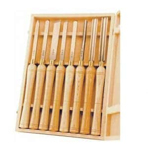 PSI-Woodworking-LCHSS8-8-Piece-Lathe-Chisel-Set