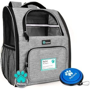 PetAmi Pet Carrier Backpack with Safety Features