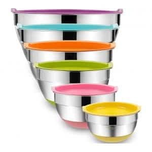 Umite Chef Stainless Steel Metal Mixing Bowls
