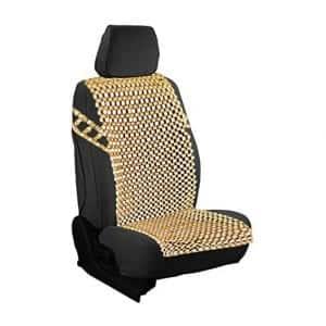 Zento Deals Natural Royal Wood Bead Seat Cover Massage Cool Premium Comfort Cushion