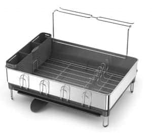 simplehuman Kitchen Stainless Steel Dish Rack