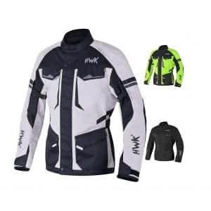 HWK Adventure Waterproof Jackets Men Touring Motorcycle Jacket 4-Season (Light Grey)