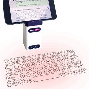 Heartbeat Laser Projection Keyboard, Bluetooth Virtual Keyboard with Keyboard Mouse Mobile Power Mobile Bracket USB Connection
