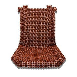 Dr. OX Natural Wood Beaded Seat Cover Massaging Cushion 2PCS