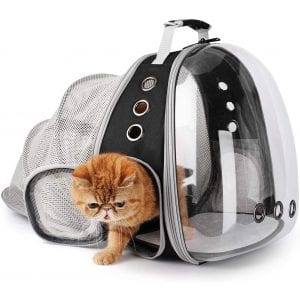 Lollimeow Pet Backpack Carrier for Outdoor Use