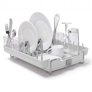 OXO Convertible Foldaway Stainless Steel Dish Rack