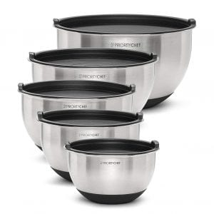 PriorityChef Thicker Stainless Steel Premium Mixing Bowls