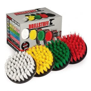 Drillstuff Brush Attachment Set for Cleaning Showers