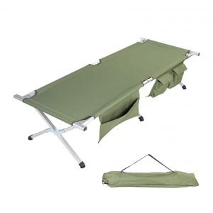 TOPKIN Portable Folding Cot Bed for Camping