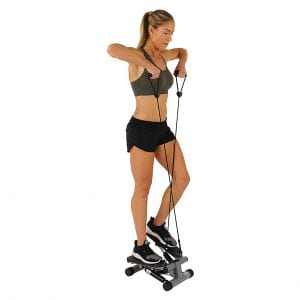 Sunny Health and Fitness Resistance Bands Mini Stair Stepper