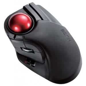 ELECOM M-HT1DRBK 2.4GHz Wireless Trackball Mouse