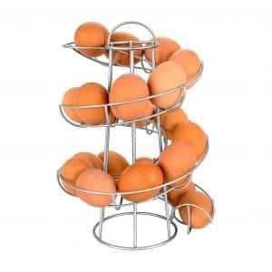 Egg Skelter Modern Spiraling Dispenser Rack