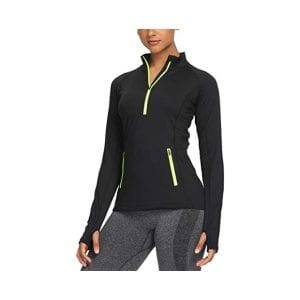 CQC Women's Thermal Fleece Half-Zip Track Jacket