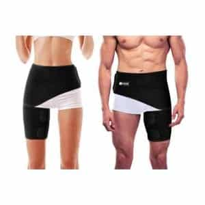Copper Compression Groin Thigh Sleeve Hip Support Wrap for Men and Women