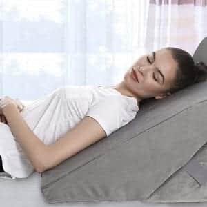 AllSett Health Bed Folding Memory Foam Wedge Pillow for Back and Legs Support