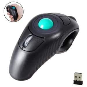 EIGIIS 2.4G Ergonomic Handheld Finger USB Trackball Mouse