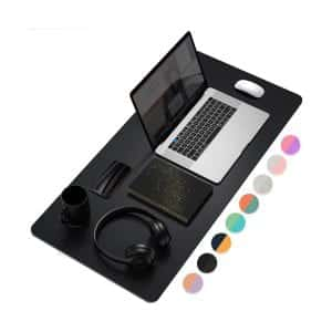 YSAGi Dual-Sided Waterproof Desk Pad (Black)
