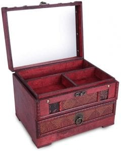 HOSEN Wooden Jewelry Box