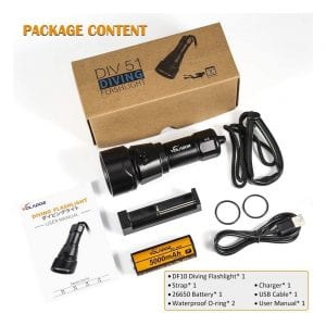 VOLADOR DIV51 Underwater Flashlight
