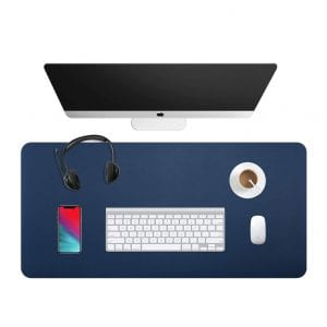 WAYBER Dual-Sided Desk Pad (Blue/Yellow)
