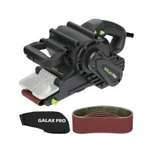 GALAX PRO 8 Amp Belt Sander 3 x 21 Inches with Variable Speed Settings