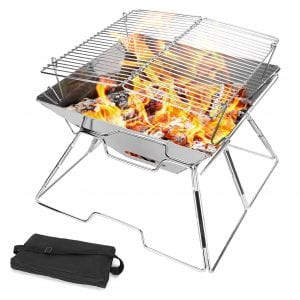 Odoland Folding Portable Fire Pit