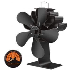 livek 5-Blades Wood Burning Stove Fan