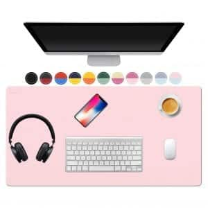 TOWWI Desk Pad, Dual-Sided Design (Blue / Pink)