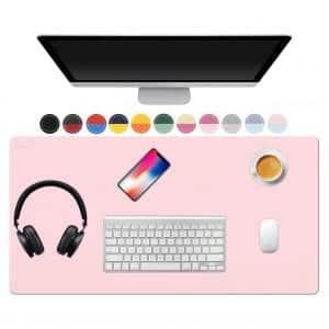 TOWWI Desk Pad, Dual-Sided Design (Blue / Pink)