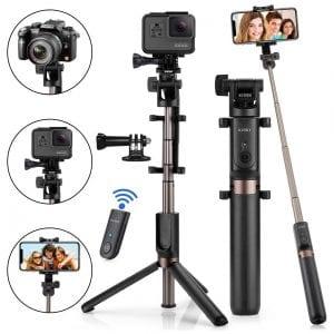 KUSKY 4-in-1 Extendable Bluetooth Selfie Stick Tripod
