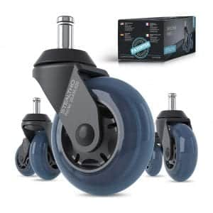 STEALTHO Patented Office Chair Caster Wheels