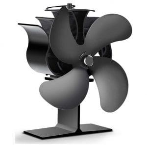 EIVOTOR 4-Blade Wood Burning Stove Fan