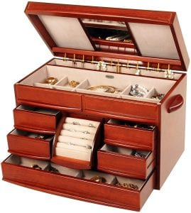 Mele & Co. Wooden Jewelry Box