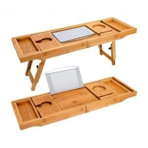 TILEMALL Bathtub Caddy and Laptop Bed Desk