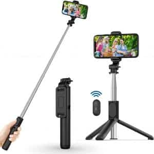 USTINE Extendable Selfie Stick Tripod