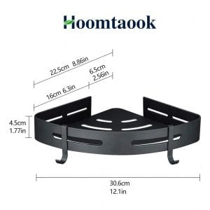 Hoomtaook 2-Tier Adhesive Shower Corner Shelf