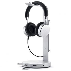 Satechi Aluminum Headphone Stand with USB Charger