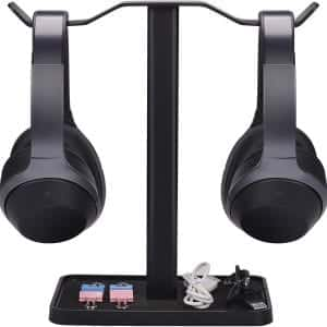 Avantree HS908Neetto Dual [Super Stable] Headphones Stand with USB Charger